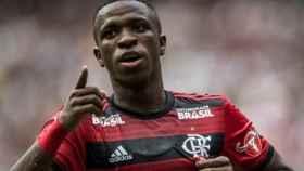 Vinicius celebra un gol con el Flamengo. Foto: Instagram (@viniciusjr_00)