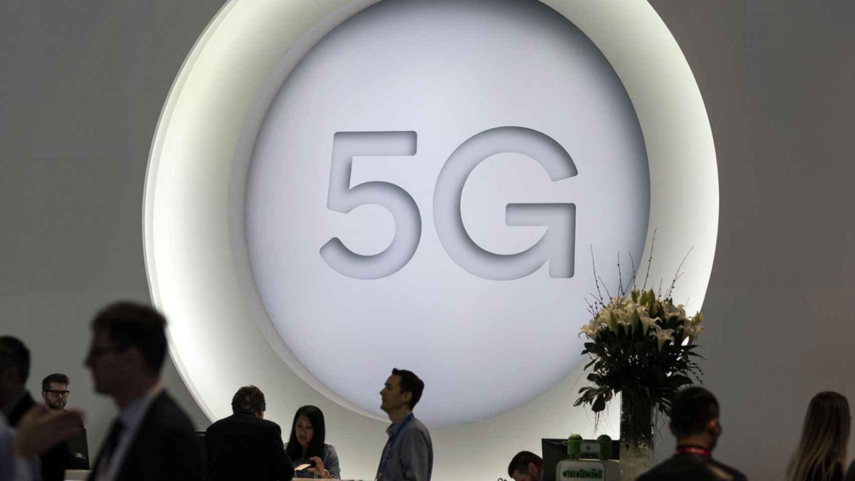Imagen de una demostración de 5G, en una imagen de archivo.