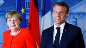 Merkel y Macron, durante la cumbre de Meseberg