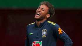 Neymar, durante un entrenamiento con Brasil. Foto Instagram (@neymarjr)