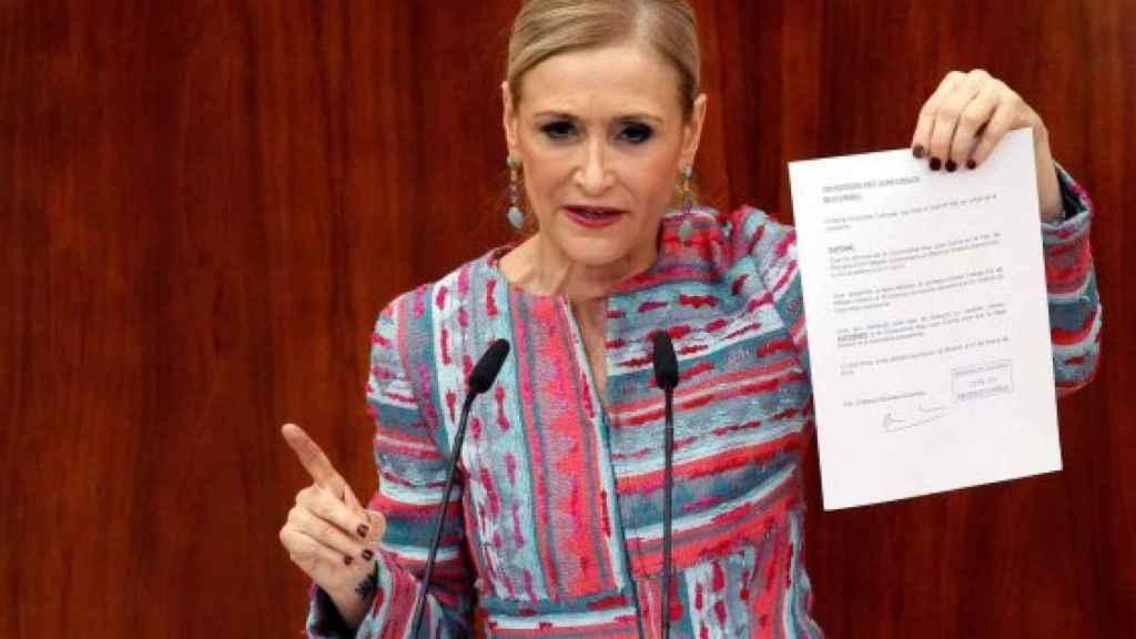 La ex presidenta de la Comunidad de Madrid, Cristina Cifuentes.