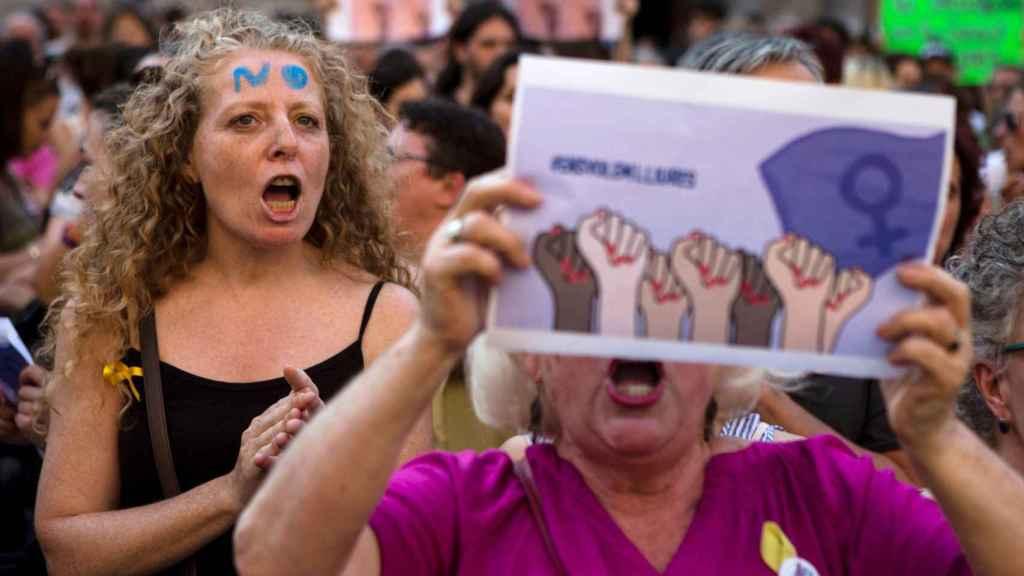 Concentración ayer en la Plaza de Sant Jordi (Barcelona)