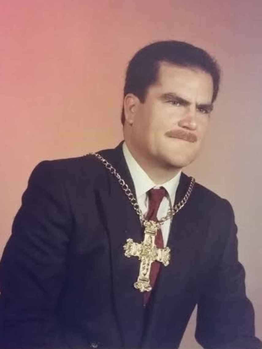 Francisco Riquelme fue 'capitán' en las fiestas locales de su pueblo natal, Abanilla (Murcia).