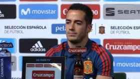 Lucas Vázquez en rueda de prensa