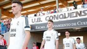 El Juvenil A luce una camiseta de apoyo a Gelabert en la final contra el Atlético