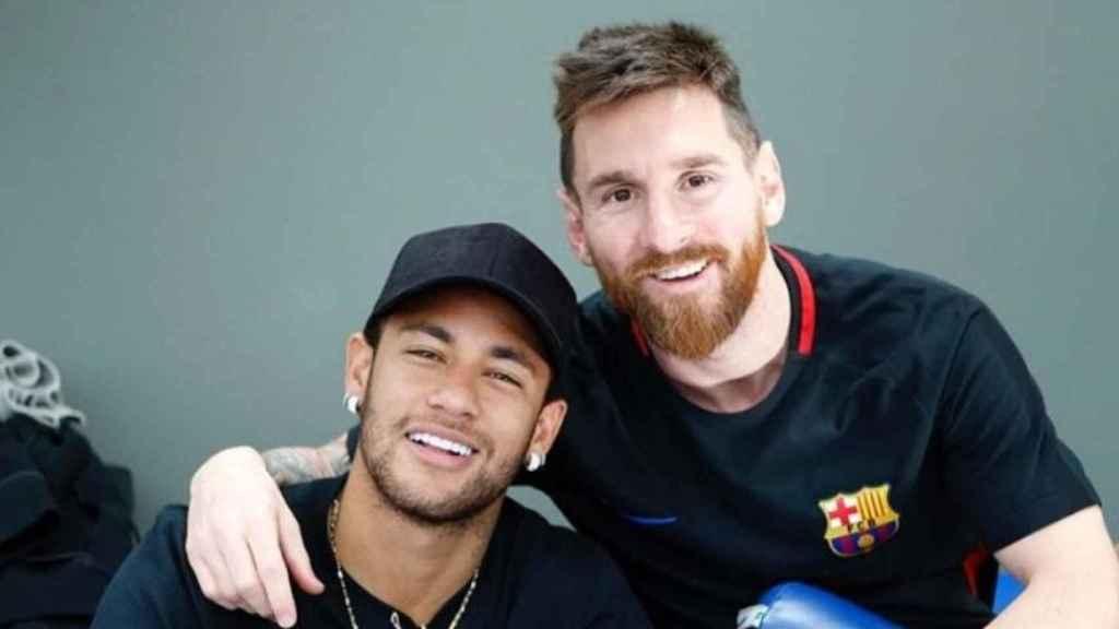 Felicitación de Neymar a Messi por su cumpleaños