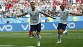 Harry Kane celebra un gol con Inglaterra. Foto Twitter (@England)