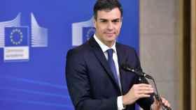 Pedro Sánchez, a su llegada a la minicumbre de Bruselas