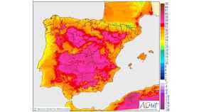 Temperaturas máximas a 25/06/2018.