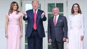 Melania Trump, Donald Trump, Abdallá y Rania de Jordania.