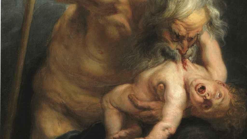 Fragmento del Saturno devorando a su hijo, de Rubens.
