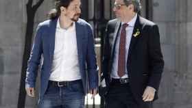 Quim Torra se reúne con Pablo Iglesias.