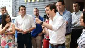 Pablo Casado, en un acto de campaña.