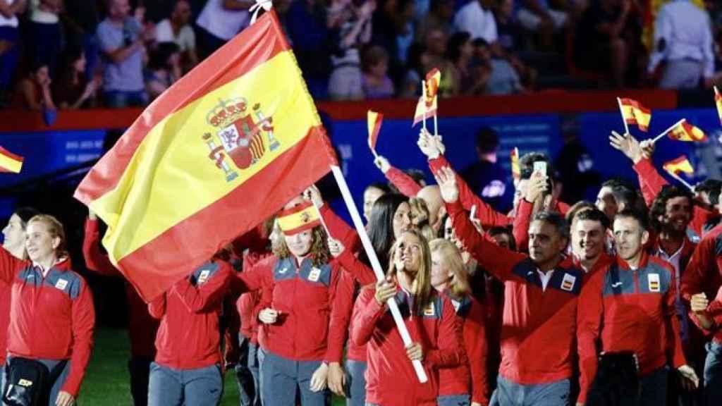 Delegación española en los Juegos Mediterráneos.