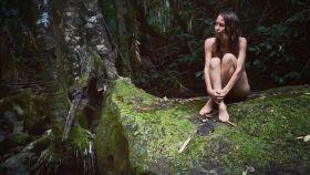 Una de las fotografía de su nueva vida en la selva.