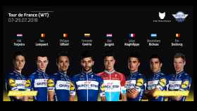 Imagen del Quick Step con el 'ocho' que correrá el Tour de Francia.