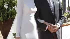 Eva González y Cayetano Rivera el día de su boda en 2015.