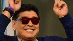 Maradona celebra durante un partido de la selección argentina. Foto: Instagram (@Maradona)