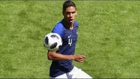Varane, con la selección francesa