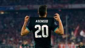 Asensio celebra su gol al Bayern