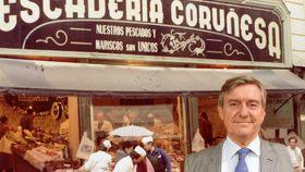 Uno de los primeros negocios de Pescaderías Coruñesas y el alcalde de Villaviciosa de Odón