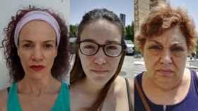 Tres de las mujeres con las que contacta EL ESPAÑOL por las calles del distrito de Amate (Sevilla).