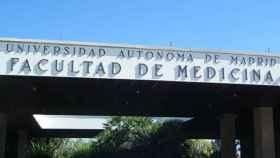 Fachada de la Facultad de Medicina de la Universidad autónoma de Madrid.