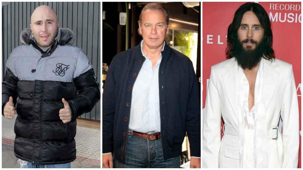 Kiko Rivera, Bertín Osborne y Jared Leto en un montaje.