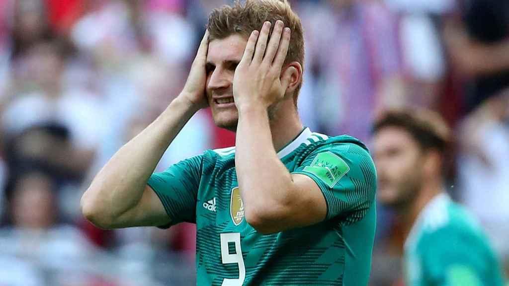 Werner se lamenta tras fallar una ocasión.