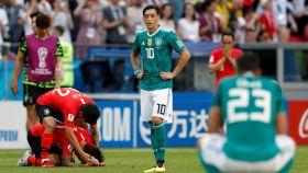 Los alemanes, derrotados tras el gol de Corea.