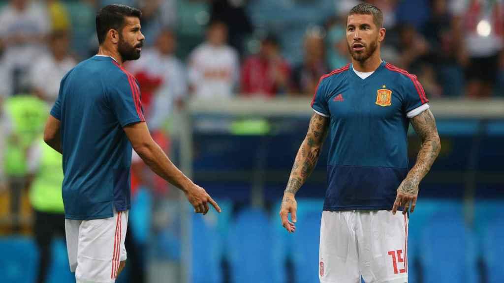 Diego Costa y Sergio Ramos, foco de las críticas en Rusia.