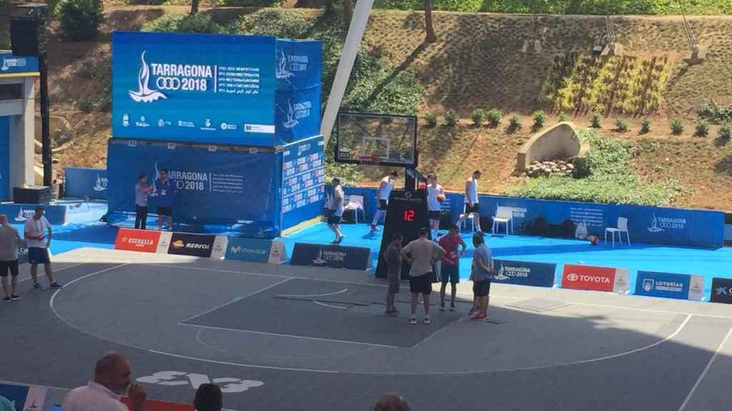Así estaba la pista del baloncesto 3x3 de Tarragona 2018.