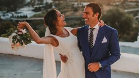 Joaquin Calpe y Marina Padilla en la boda en una imagen que compartieron en sus redes sociales.