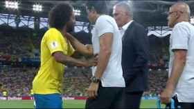 Marcelo se marcha lesionado. Foto: Twitter (@elchiringuitotv).