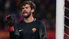 Alisson Becker, portero de la Roma. Foto: Twitter (@OfficialASRoma)