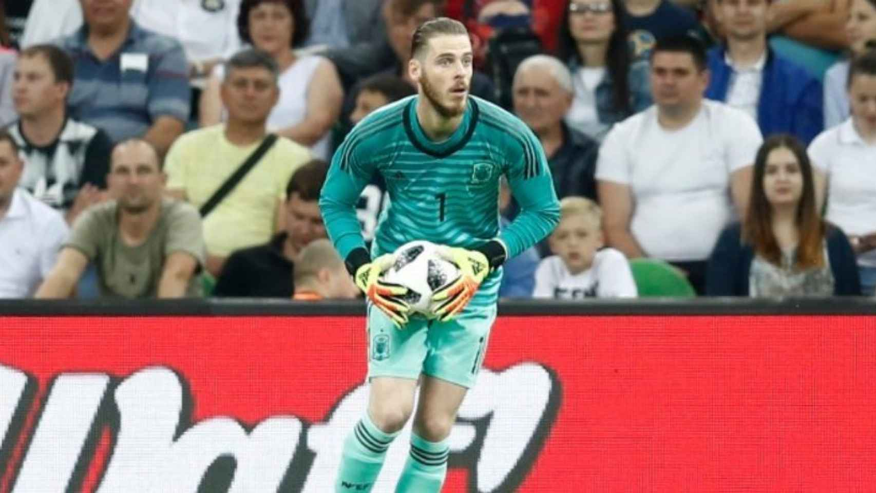 De Gea durante un partido de España. Foto: Facebook (@sefutbol).