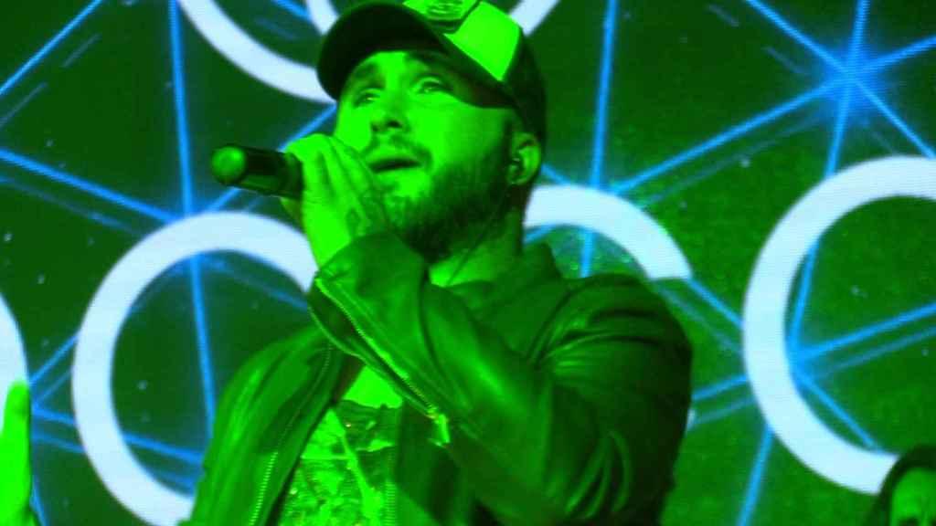El intérprete en uno de sus últimos conciertos.