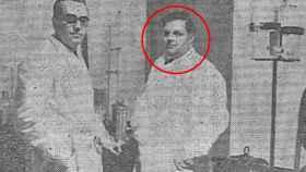 Albert von Filek, a la derecha, en su presunto laboratorio madrileño / El Día de Palencia.