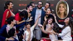 El elenco de 'Paquita Salas' en el estreno de la segunda temporada.