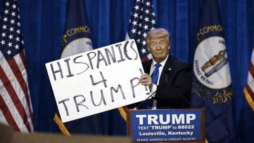 Donald Trump en plena campaña tratando de captar el voto de los hispanos.