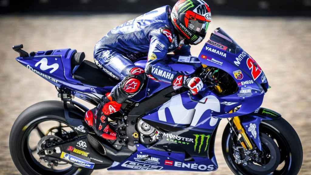 Maverick Viñales, el más rápido en la primera jornada de entrenamientos del GP de Holanda.