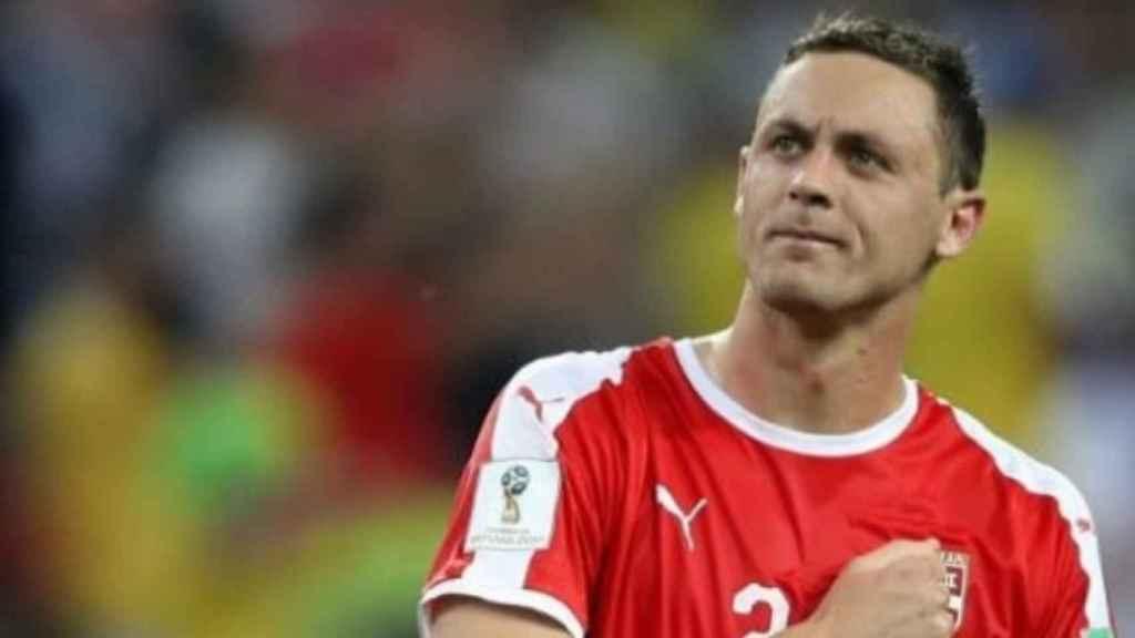 Nemanja Matic, con la selección de Serbia. Foto: Instagram (@nemanjamatic)