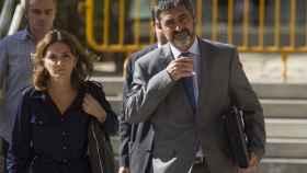 Josep Lluis Trapero a la salida de una de sus declaraciones en la Audiencia Nacional.