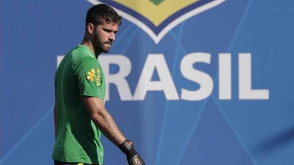Alisson, portero de Brasil. Foto: Twitter (@Alissonbecker)