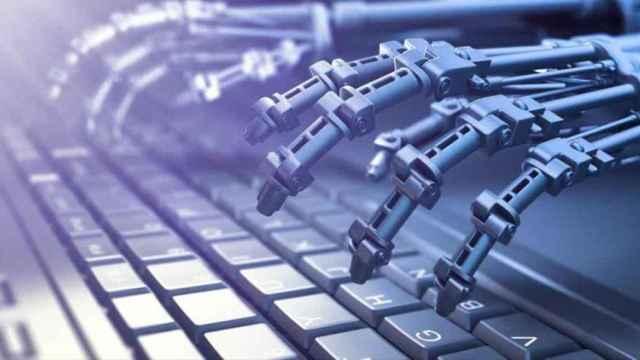 inteligencia artificial robot teclado