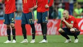 Andrés Iniesta, durante los penaltis.