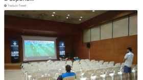 Uno de los tuits burlones sobre España.