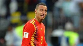 Rodrigo, visiblemente afectado por la derrota.