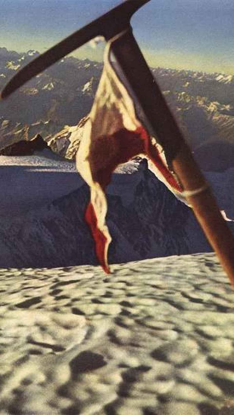 Buhl clavó un piolet con la bandera tirolesa en la cima del Nanga Parbat.
