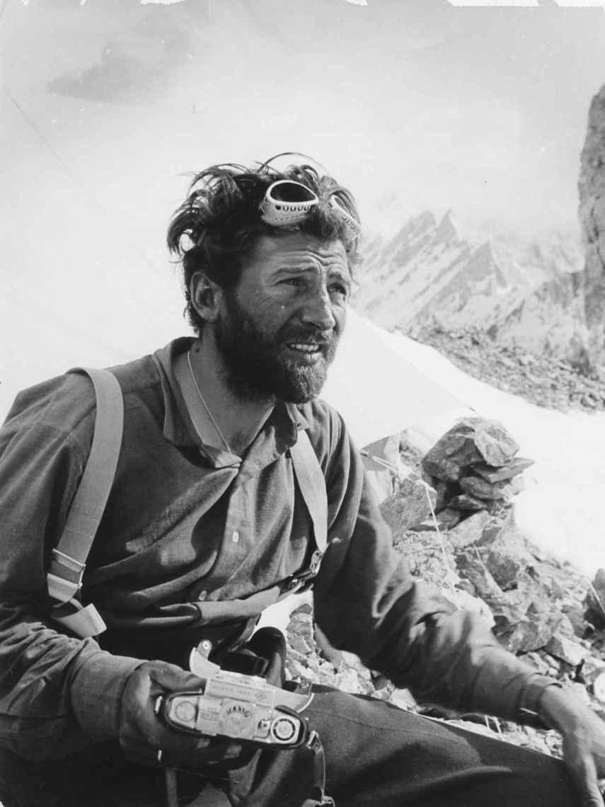 Hermann Buhl en el Broad Peak.